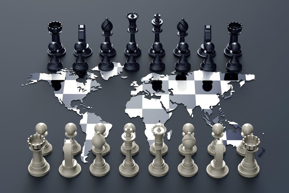 enjeux géopolitiques/ multilatéralisme /unilatéralisme/ jeu d'echecs